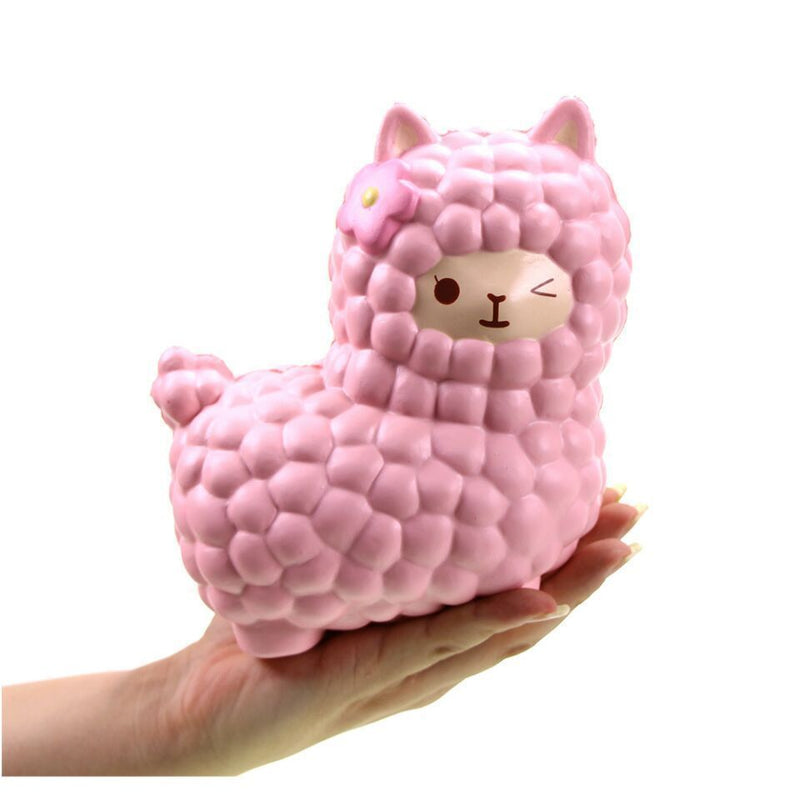 pink alpaca squeeze toy stress ball stress relief autism stim stimming kawaii fairy kei by kawaii babe