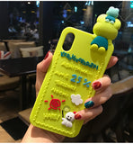 3d rubber sanrio iphone cases green keroppi frog silicone bendy shock proof harajuku japan fashion by kawaii babe