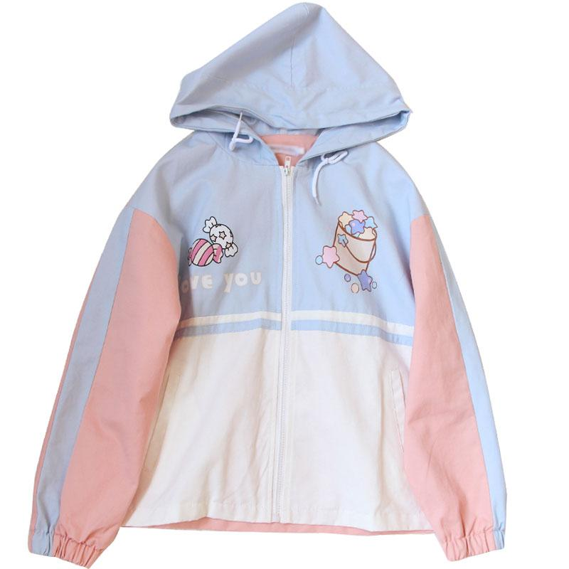 Love You Fairy Kei Windbreaker
