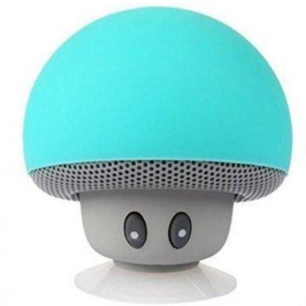 waterproof bluetooth aqua mushroom speaker with built in microphone hands free mic device portable nintendo kawaii mushroom toadstool by kawaii babe