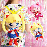 Sailor Moon Backpack Book Bag Plush Stuffed Doll Toy Rucksack Kawaii Mahou Shoujo Magical Girl