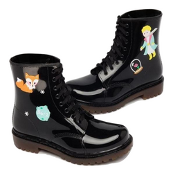 Black Kawaii Rain Boots