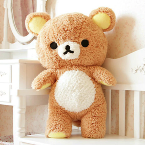 Brown Rilakkuma Bear Teddy Plush Toy Stuffed Animal Kawaii Cute San-X