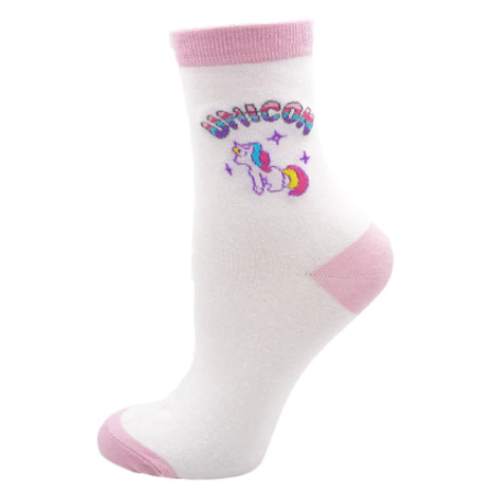 Pink Unicorn Pastel Socks Kawaii Fairy Kei Cute Fashion