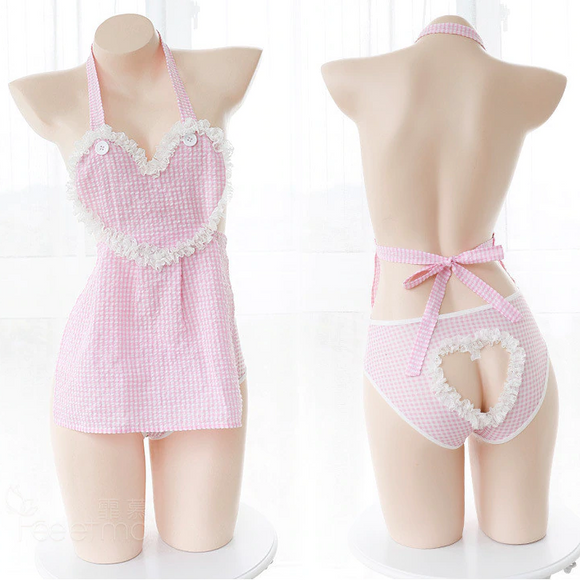 Sweet Peekaboo Apron Dress
