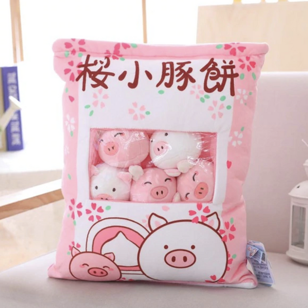Bag of Piggy Plushies