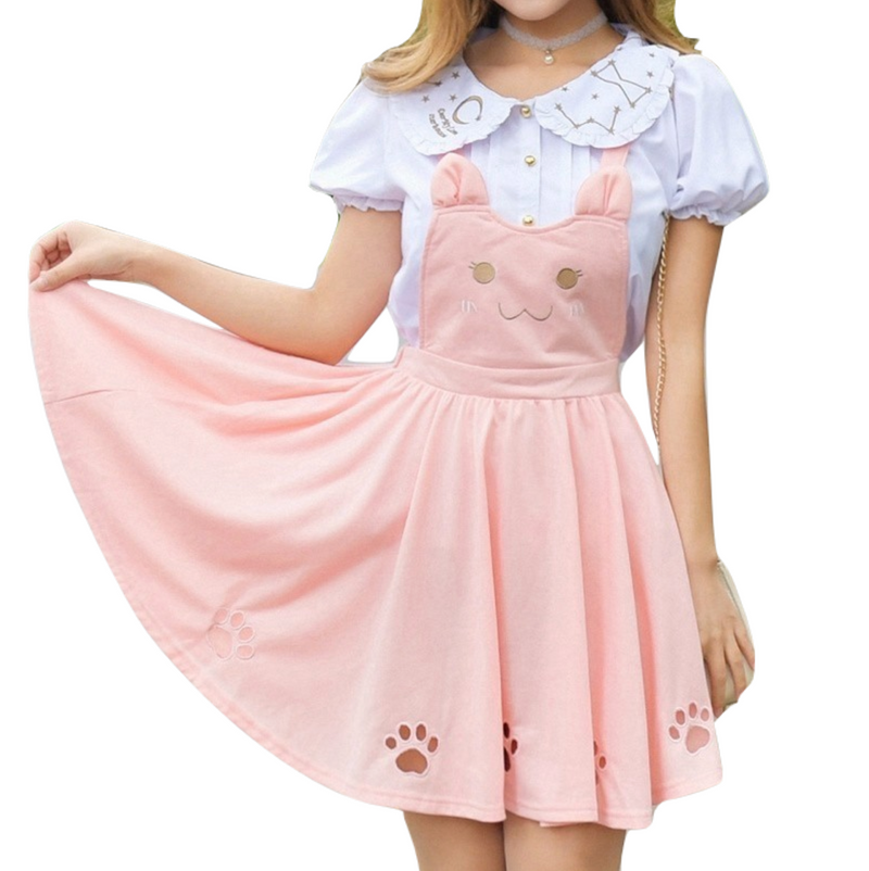 Kitten Paw Suspender Dress