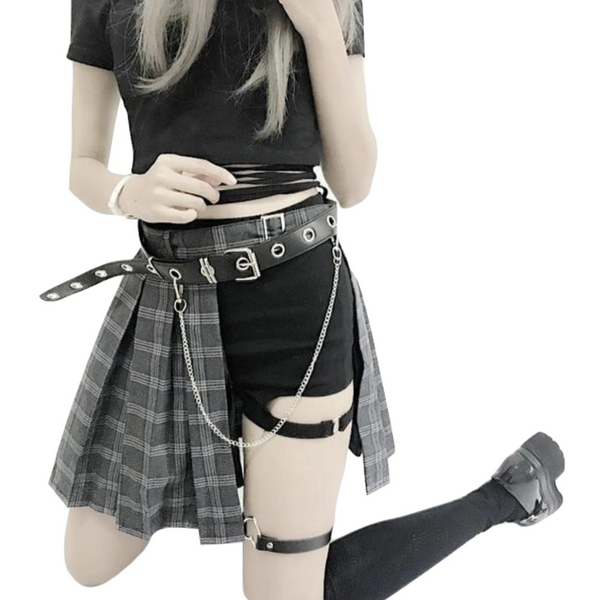 Punk Rock Pleated Skirt