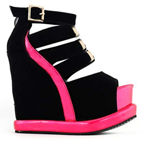 Platform Peep Toe Wedges