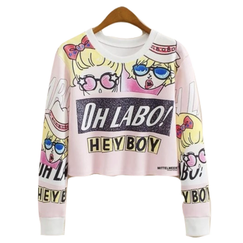 Hey Boy Cropped Sweater