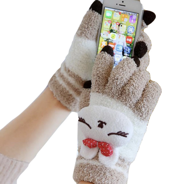 Touch Screen Kawaii Mittens