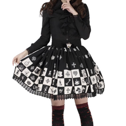 Checkered Chess Skirt
