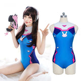 Overwatch D.VA DVA Cosplay Anime SwimSuit One Piece Swim Suit One piece swimmer bikini Gamer Girl Fandom Costume