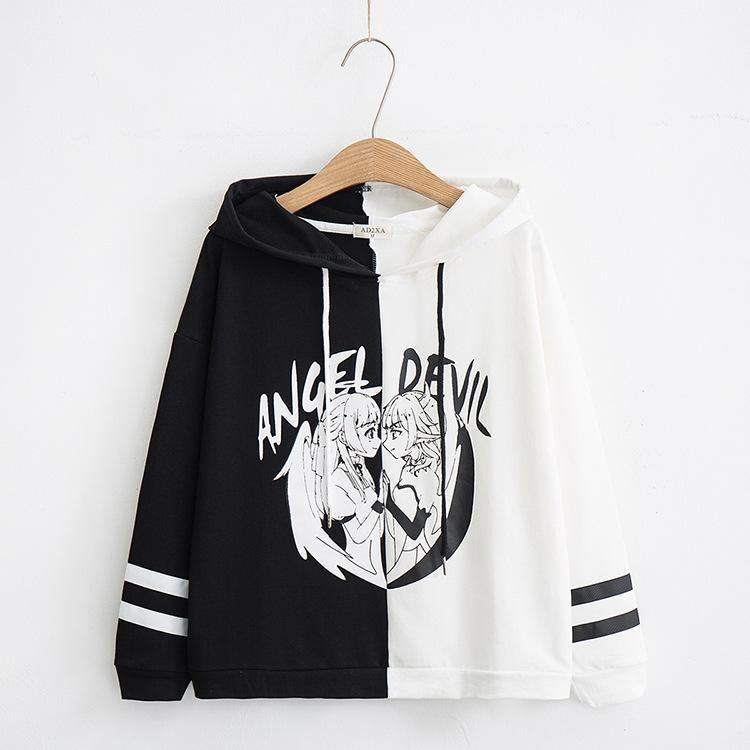 Angel vs Devil Hoodie - sweater