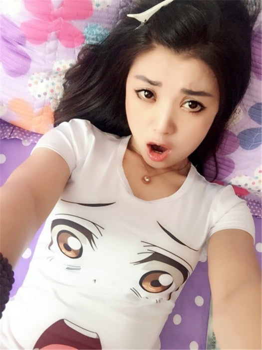 Kawaii Anime Face Expression T-Shirt Cute Tee Tops Manga