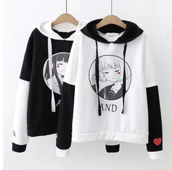 Anime Girl Hoodie - sweater