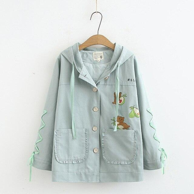 Avocado Bear Jacket - Green / L - coat