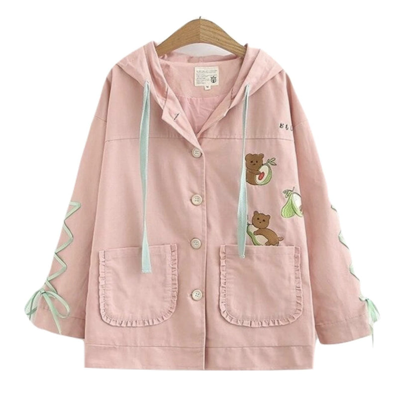 Avocado Bear Jacket - Pink / L - coat