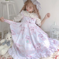 Baby Angel Bear Lolita Dress - angel bear, angels, bear dress, clothes, clothing