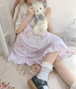 Baby Angel Bear Lolita Dress - Purple - angel bear, angels, bear dress, clothes, clothing