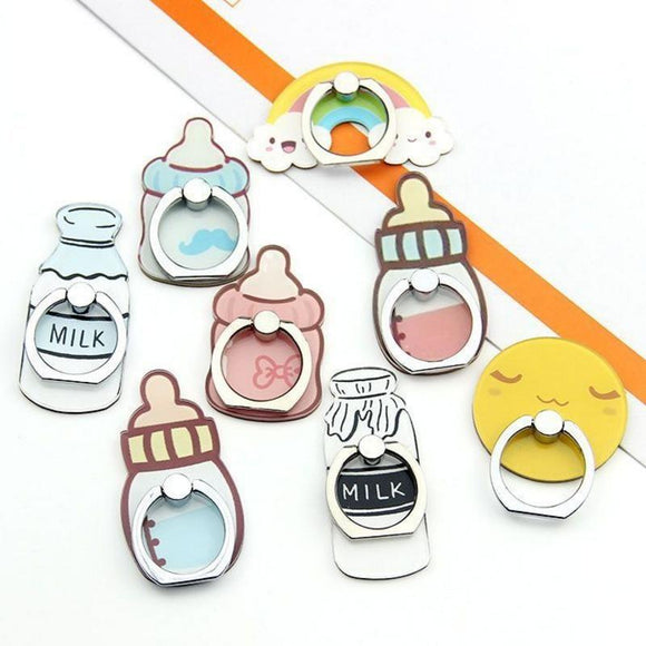 Kawaii Baby Bottle Phone Rings Holder Stand Finger Ring
