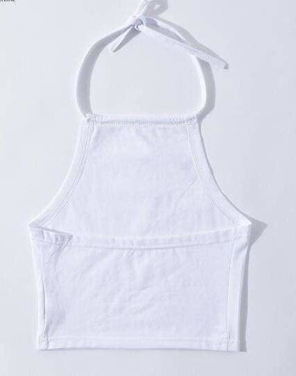 White Pink Babygirl Halter Top Strapless Summer Fashion ABDL Kink Fetish DD/LG MD/LG Little Space Clothing by DDLG Playground
