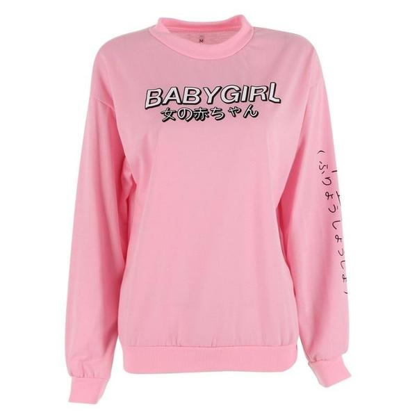 63609f14e Harajuku Baby Girl Crewneck Sweater Hoodie Tumblr Aesthetic Kawaii ...