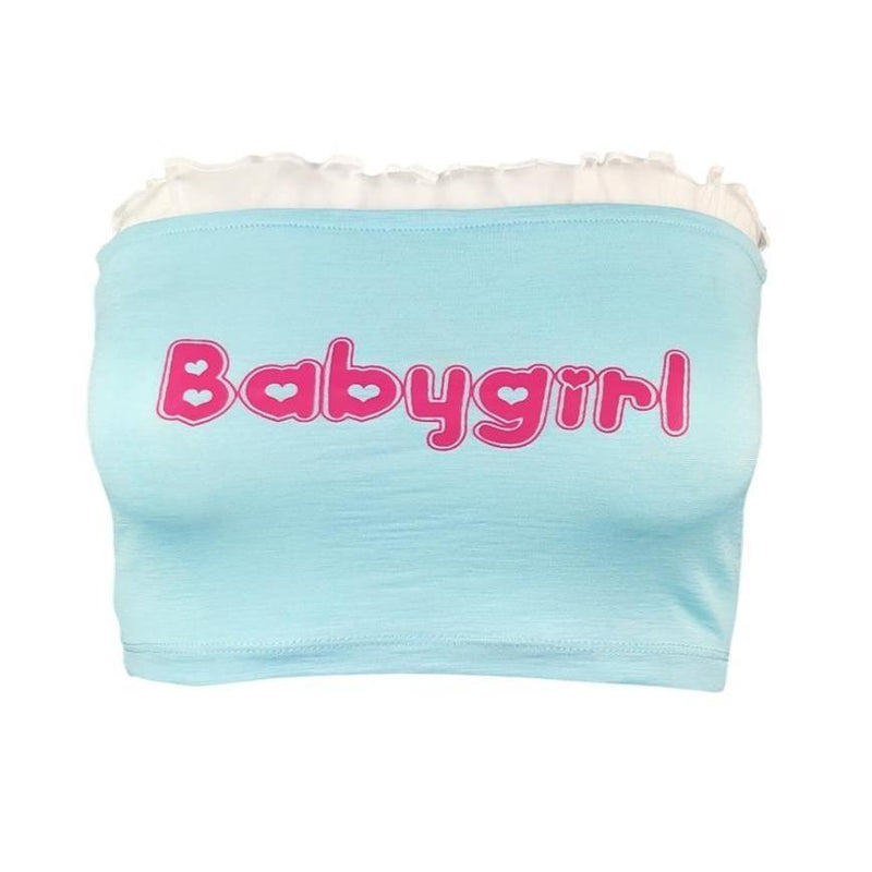 Babygirl Tube Top - boob toob, tube, crop top, cropped, cropped shirt