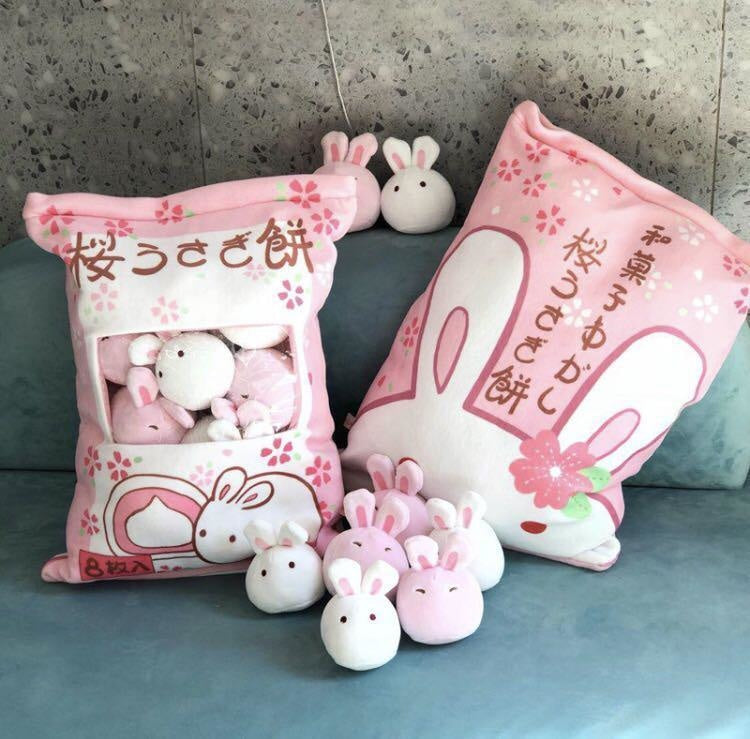 Bag Of Pink Bunnies - stuffed animal