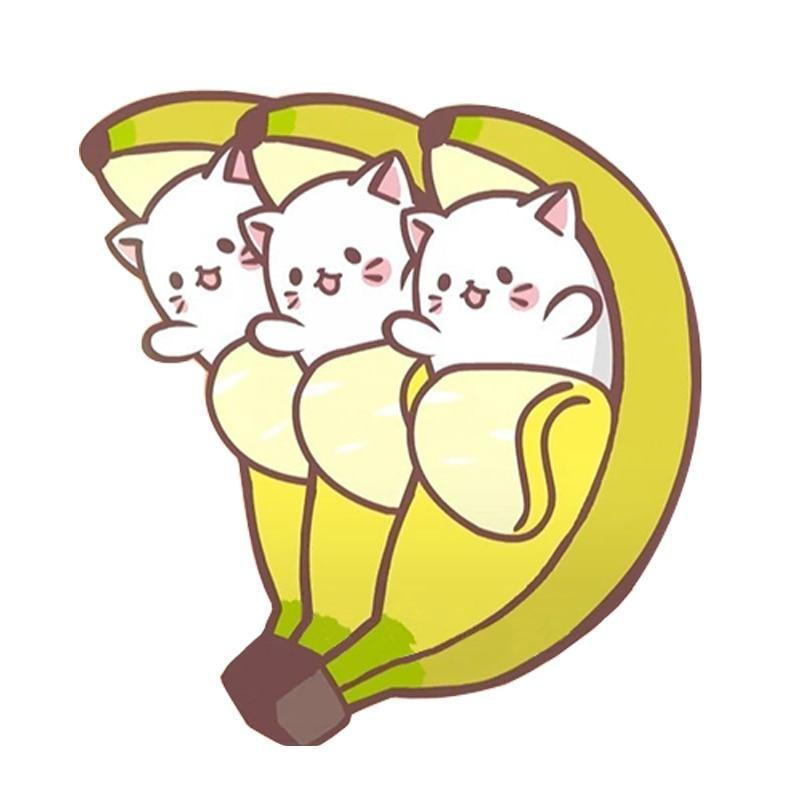 Banana Cat Triplets Three Kittens Enamel Pin Lapel Brooch