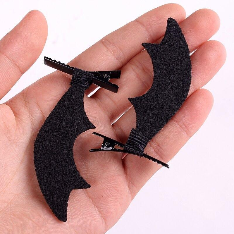 Bat Wing Headband & Clips - Hair - angel, angel wings, angels, bat card captor