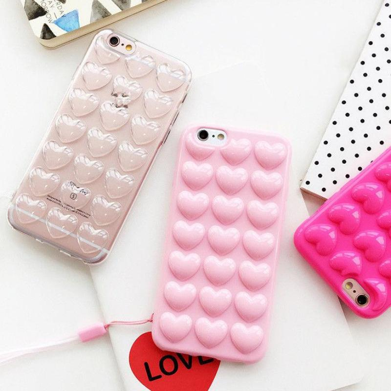 8d7d032354 ... bubble heart phone case for apple iphone cover protector squishy  squeeze bubbles bubbly love soft 3d ...