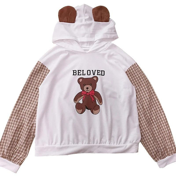 Beloved Bear Hoodie - sweater