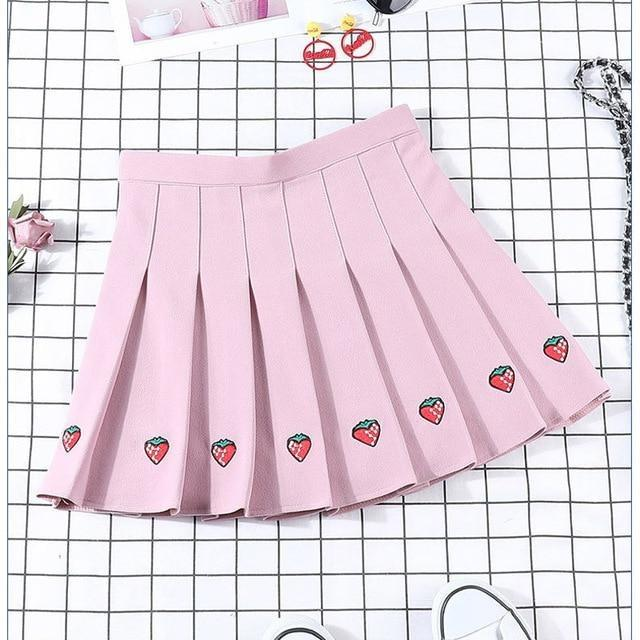 Berry Babe Skirt - Pink / S - Skirts