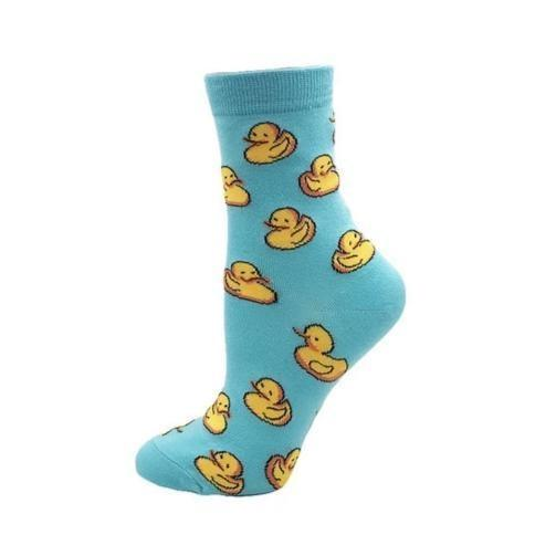 Blue Baby Duck Socks - socks
