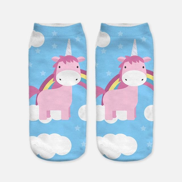 Kawaii Unicorn My Little Pony Socks Adult Women Kidcore Little Space Age regression rainbow clouds