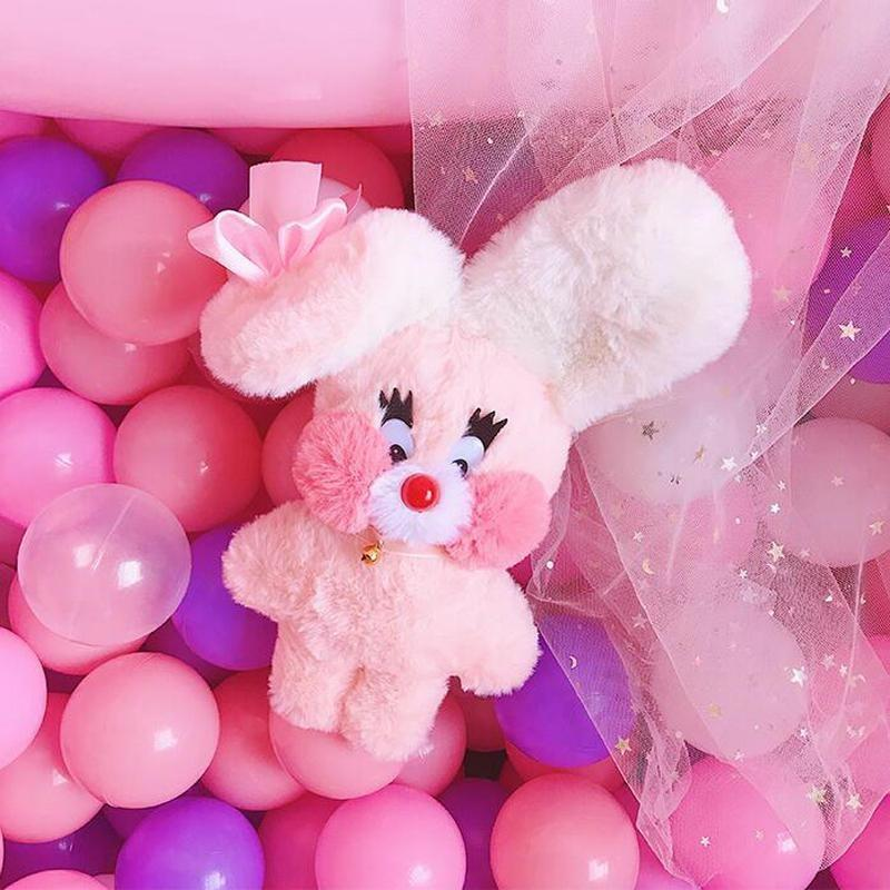 Bubblegum Bunny Plushie - fairy kei, little mouse, mimi plush, plush toys