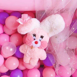 Bubblegum Bunny Plushie - Folded Ears - fairy kei, little mouse, mimi plush, plush toys
