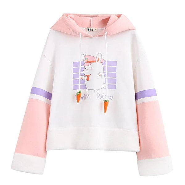 Bunny Traffic Police Hoodie - sweater