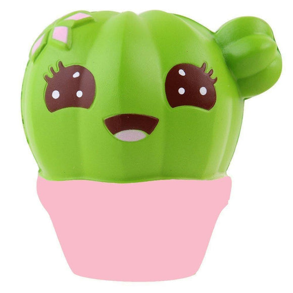 Cactus plant cacti kawaii face squeeze toy stress ball stress relief autism stim stimming abdl kawaii