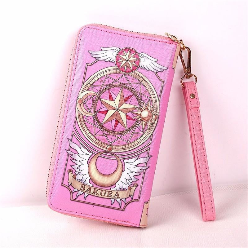 Card Captor Sakura Anime Cosplay Magical Girl Cardcaptor Mahou Shoujo Zipper Wallet