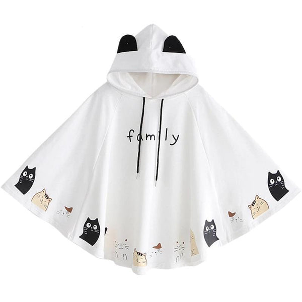 Cat Family Poncho - sweater