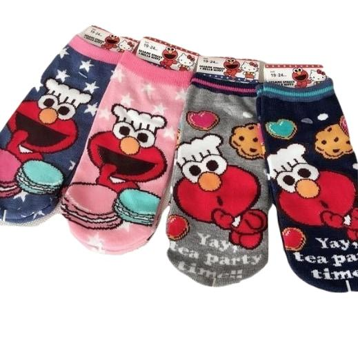 Cute Chef Baker Elmo Ankle Socks Macarons Cookies Cute Kawaii