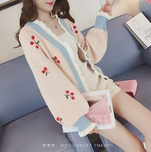 Cherry Baby Cardigan - sweater