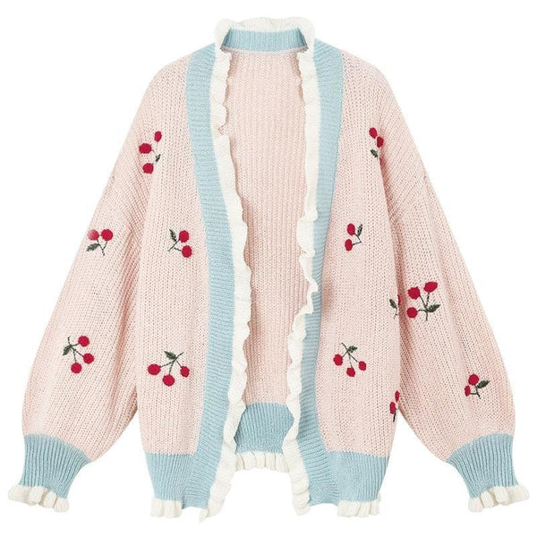 Cherry Baby Cardigan - Pink - sweater