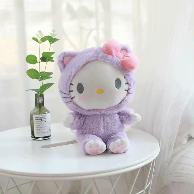 Fairy Kei Pastel Purple Hello Kitty Plush Toy Kawaii Cute