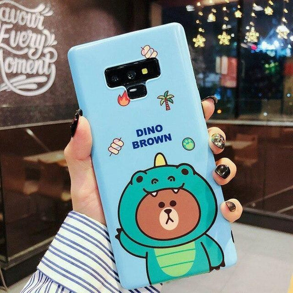 Costumed Bear Samsung Cases - For Samsung S10 Plus / Blue - phone case