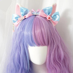 Cotton Candy Ears - Cat Ears - headband