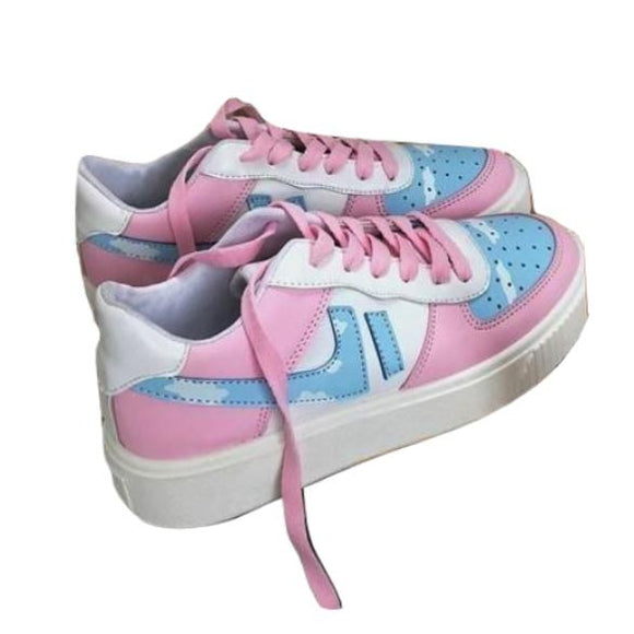 0996cb3eedf5 Cotton Candy Sneakers Athletic Shoes Lolita Fairy Kei