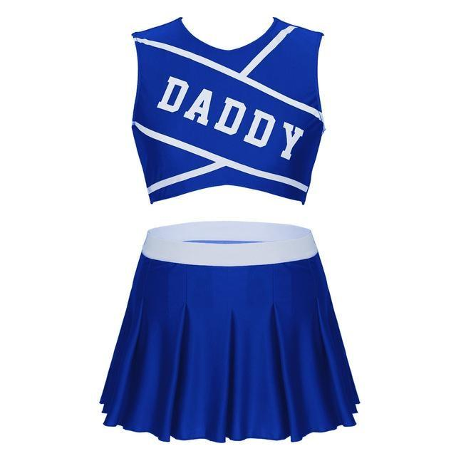 Daddy Cheerleader Outfit - Royal Blue / S - costume
